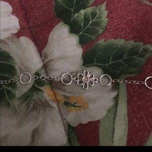 925 sterling silver bracelet with flower